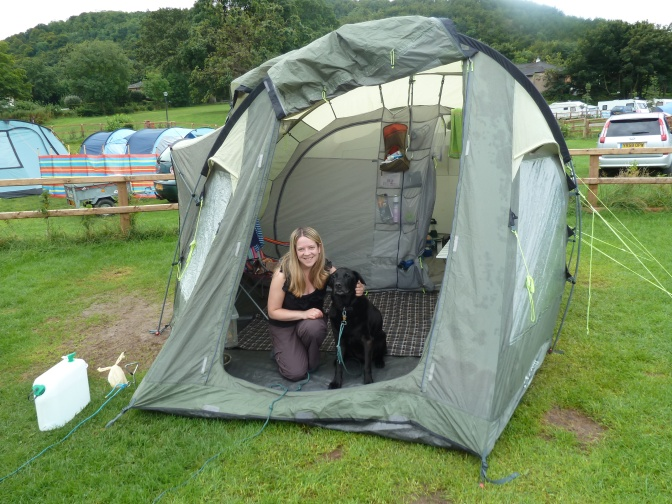Camping in Wales.