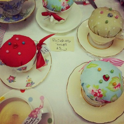 Teacup Pin Cushions. :)