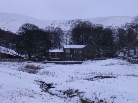 The farm I grew up on at the foot of Pendle Hill.