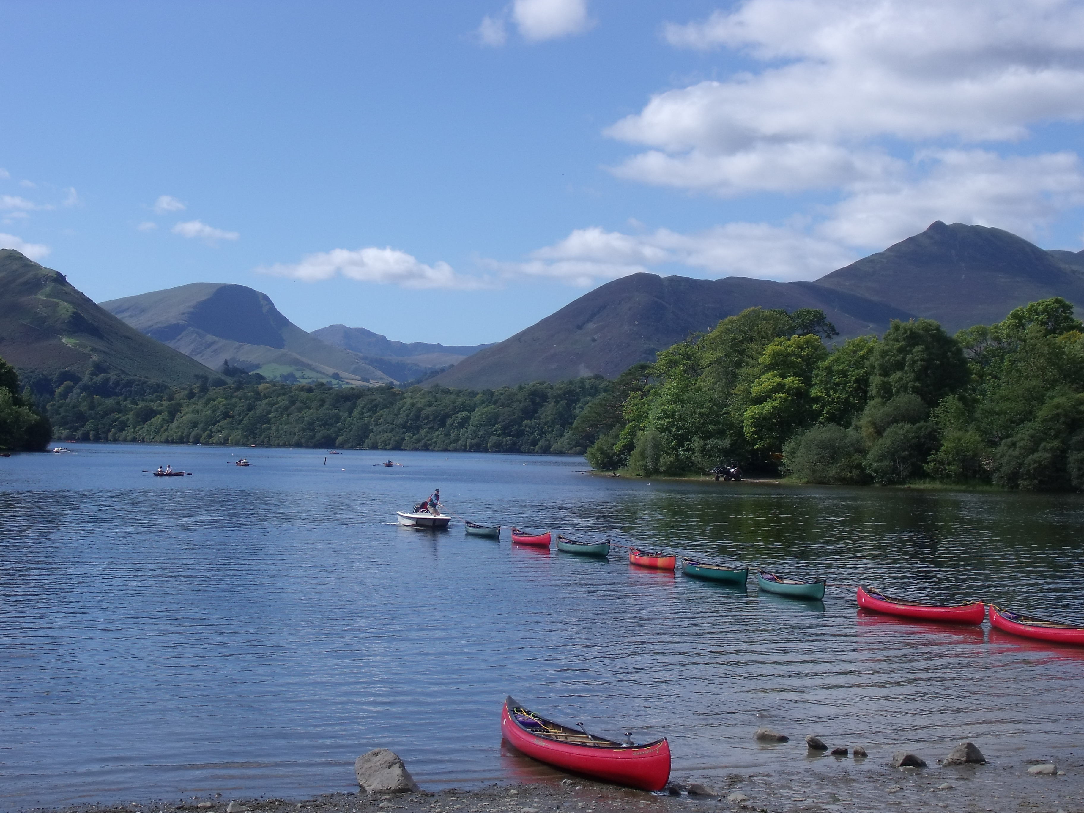 Derwent Water is one of the most scenic of the Lakes ( Gorgeous !).