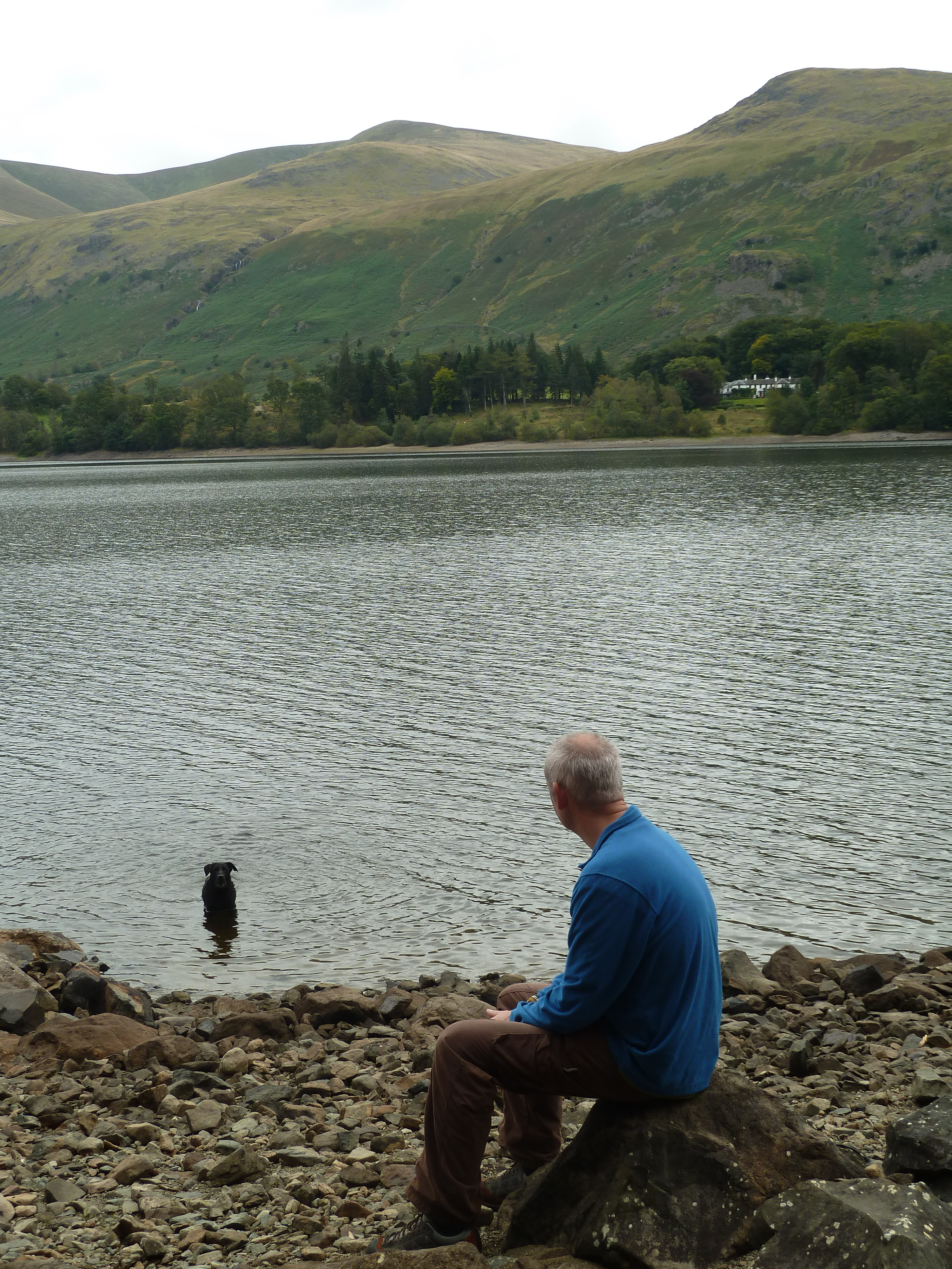 Thirlmere is a reservoir serving the city of Manchester. Helvellyn peak looks over the west side of the lake.
