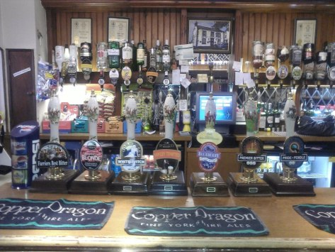 A great selection of Real Ale's ( photo taken from the New Inn facebook page.)