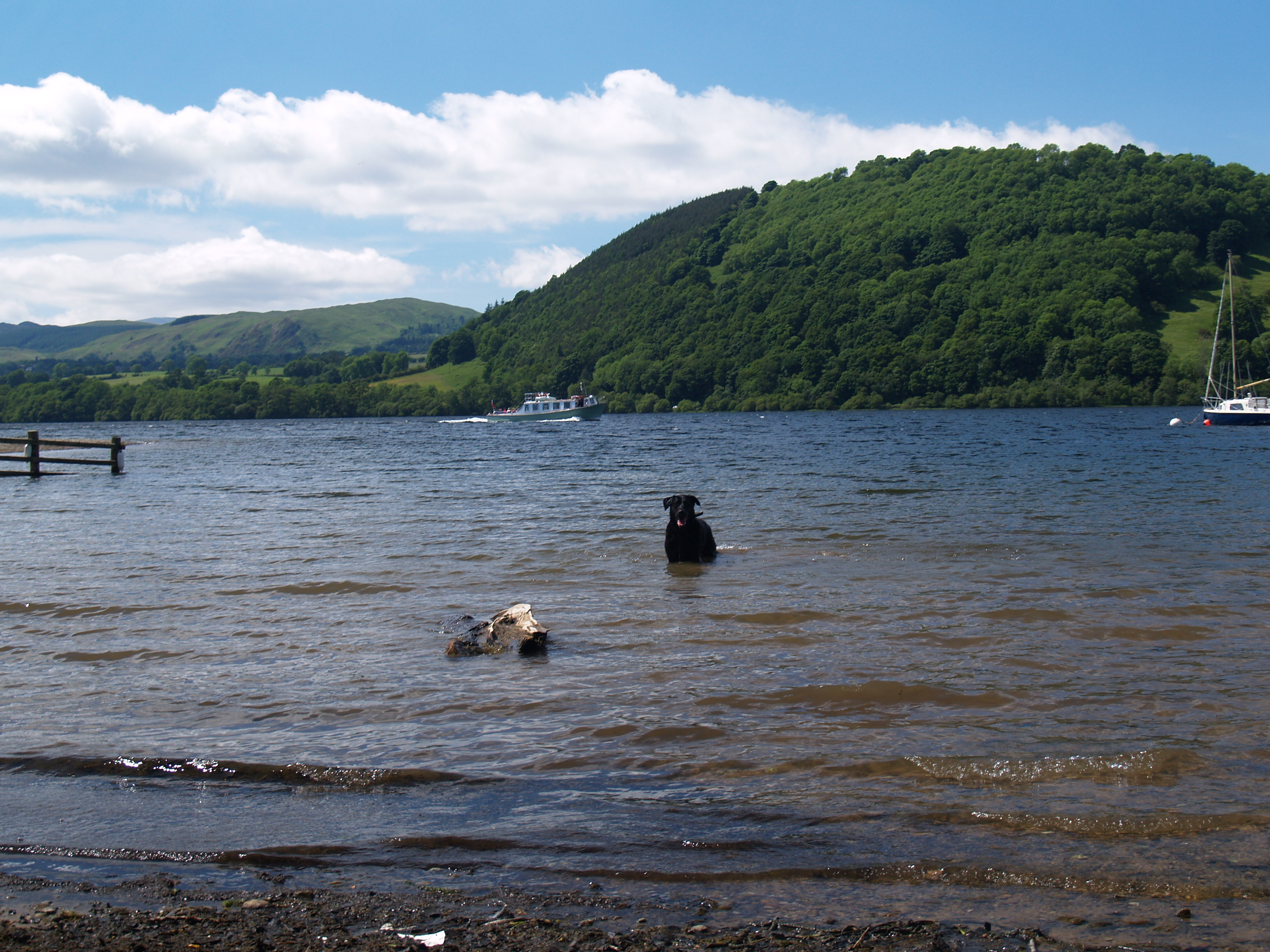 Ullswater lies in the North East of the Lake District and is nine miles long. It is sometimes compared to the lakes of Switzerland.