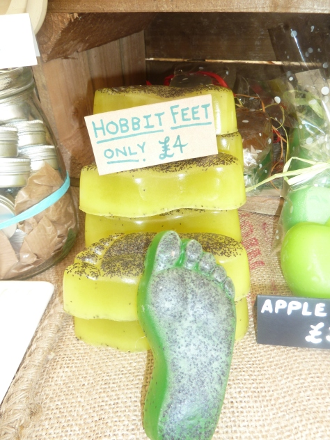 Hobbits feet soap.
