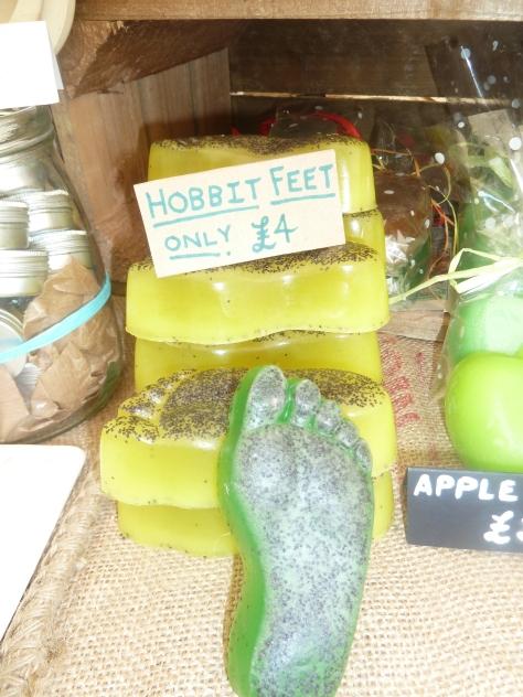 Hobbits feet soap.