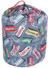 Luggage tags sleeping Bag to snuggle down in.