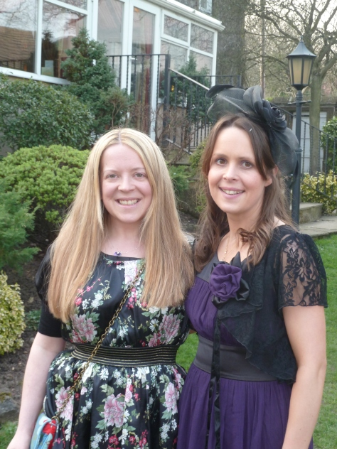 Me and my lovely sister at a wedding last year.
