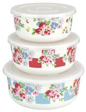 Set of 3 daisy rose check melamine food containers £16.