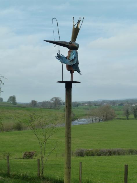 A kingfisher surveys his kingdom.