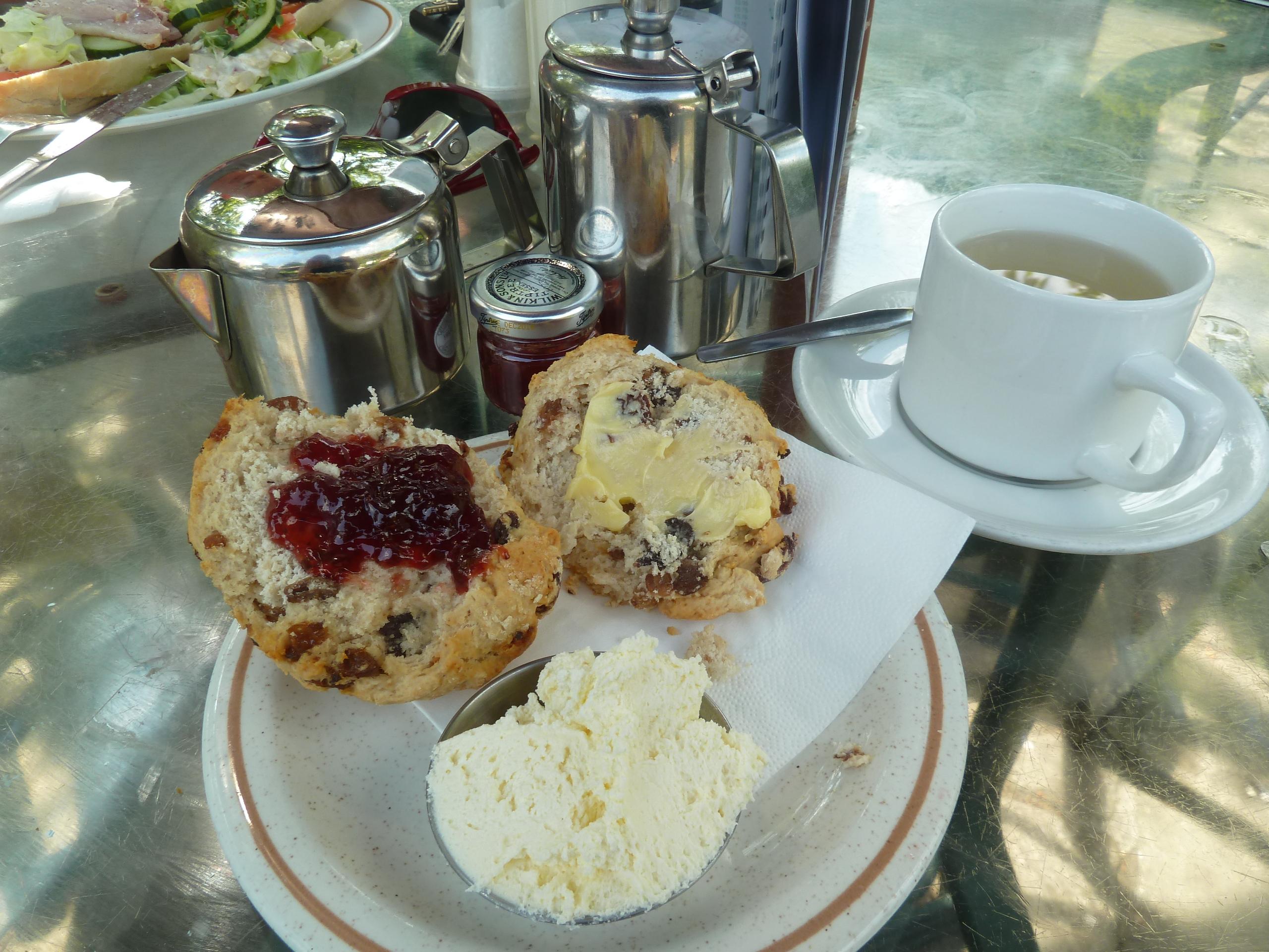Cream Tea in Pooley bridge.