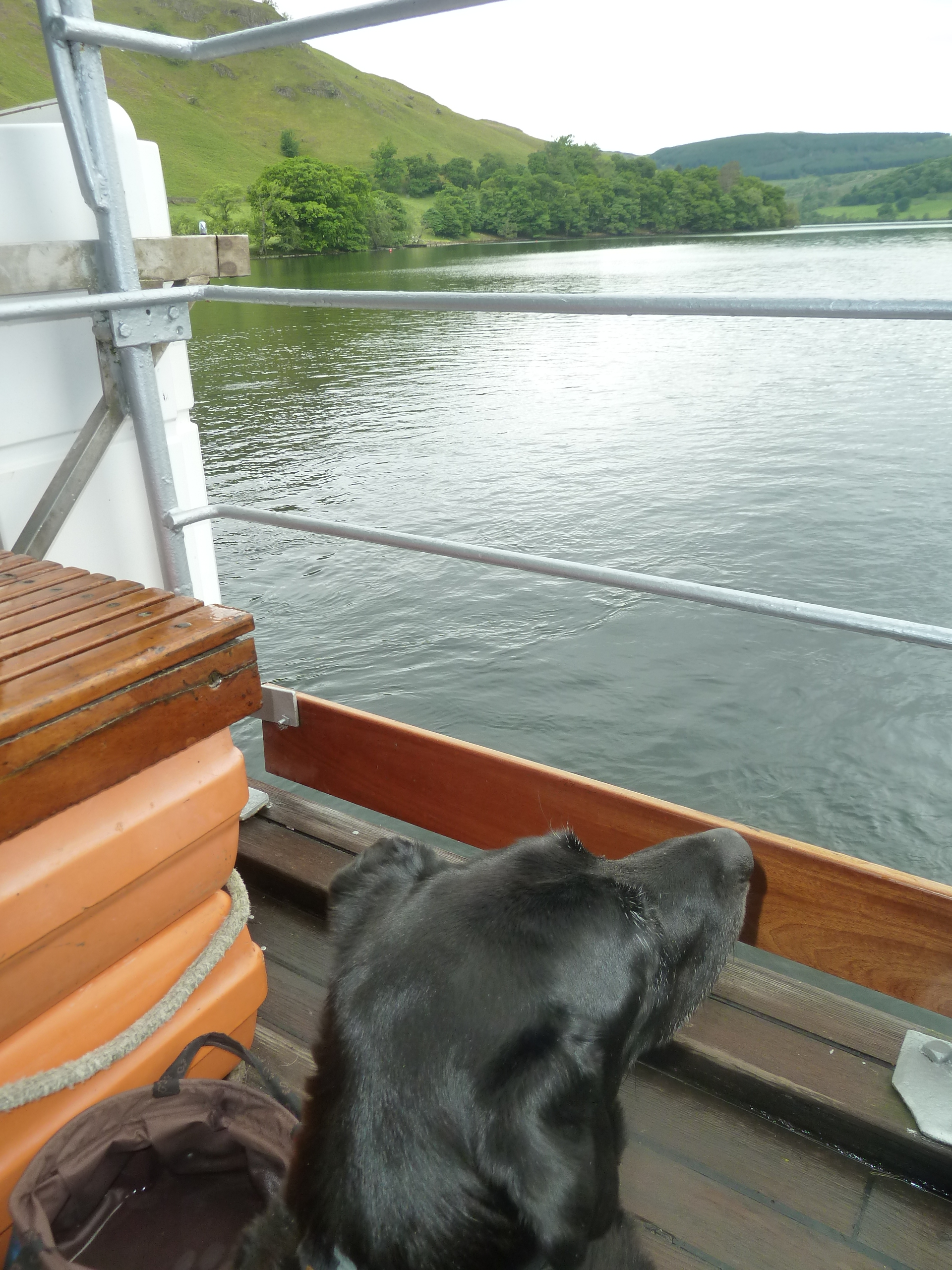 Jake's first boat trip age 13. Think he enjoyed it!
