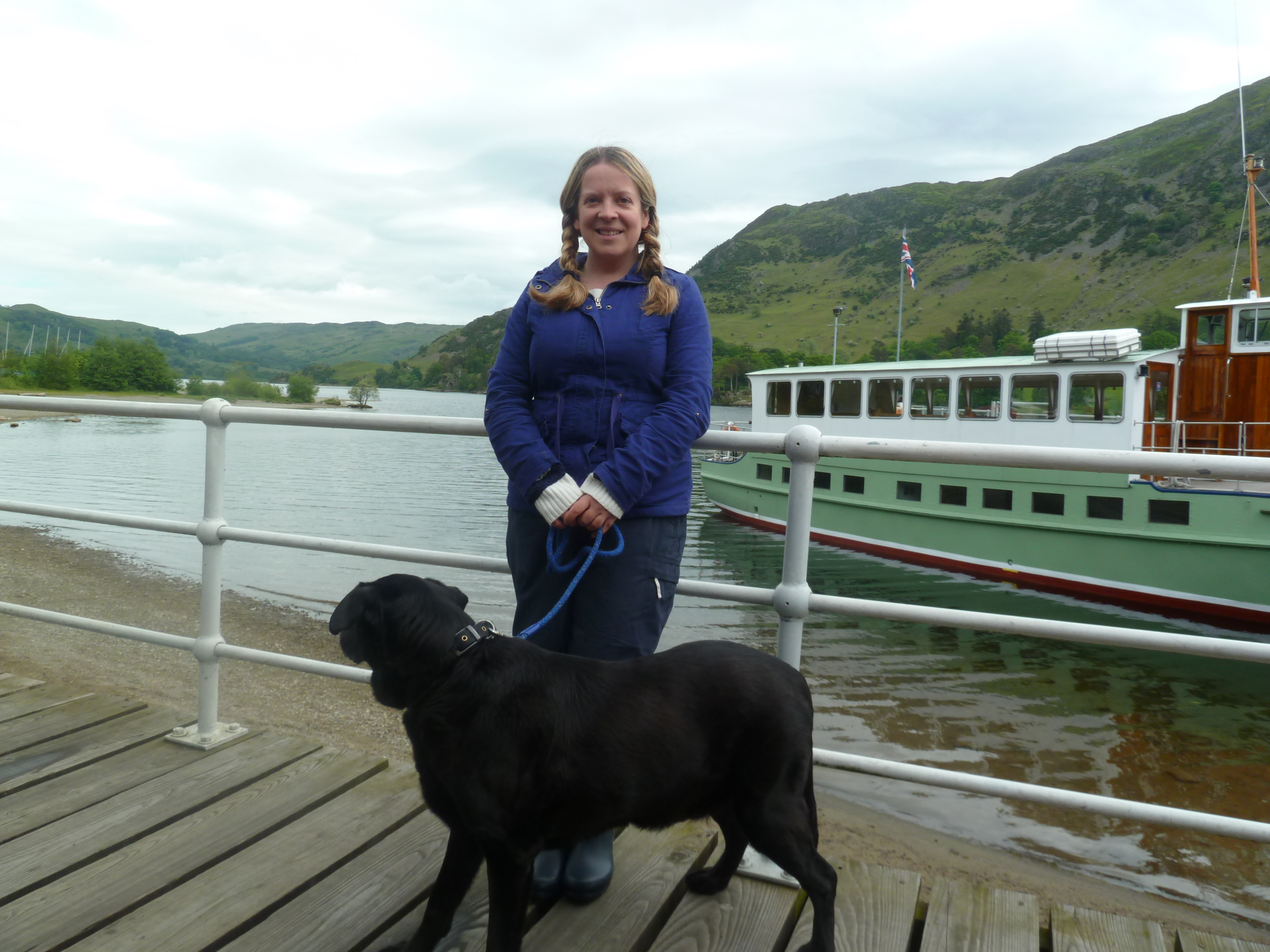 Waiting to board the steamer at Glenridding.