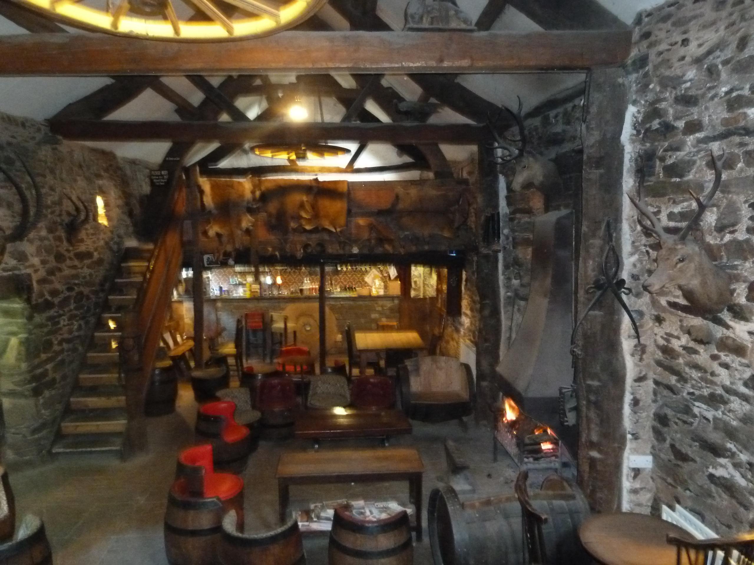 Inside the Quiet Bar.