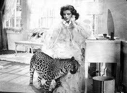 Baby is the young leopard  in the screwball comedy Bringing Up Baby ,starring Katharine Hepburn and Cary Grant.  In real life Cary was not as fond of Baby as Katharine who put a stuffed leopard in his dressing room as a joke, he apparently ran out very quickly.