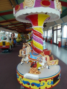 Fairground rides on the Pier.