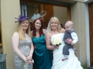 The bride with some of her beautiful family. :)