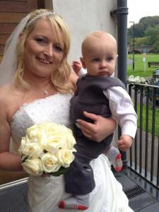Cannot quite believe the beautiful bride is both a mum and a gran too !