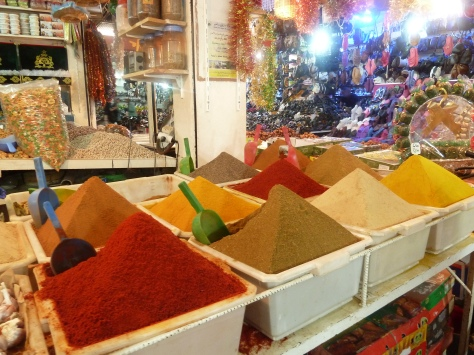 Spices in Morocco.
