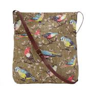 Garden Birds leather strap messenger bag £45.