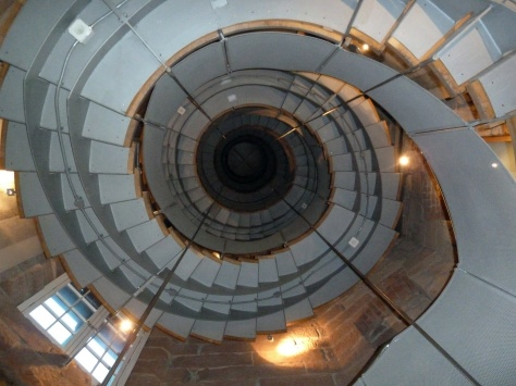 Spiral staircase in The Lighthouse Gallery.