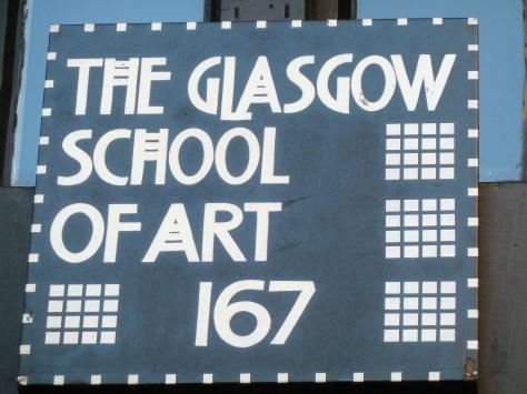 School Of Art Sign.
