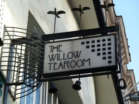 Sign for The Willow TeaRoom.