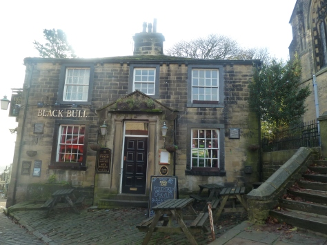 The Black Bull which Branwell Bronte often frequented.