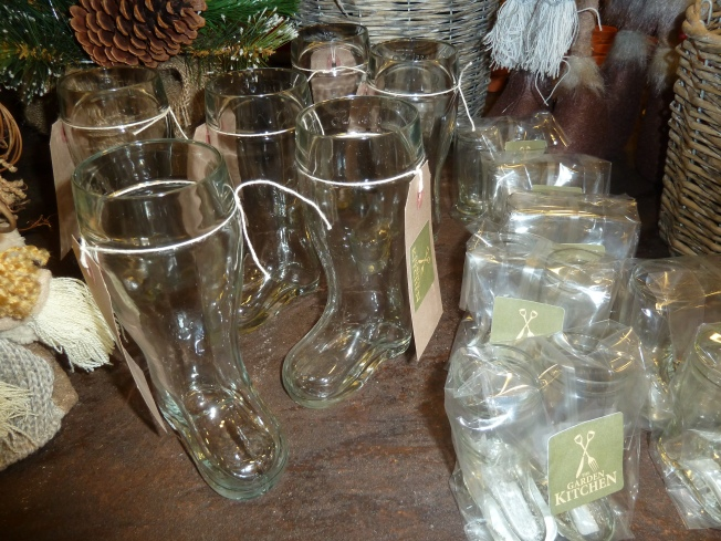 You can buy your own glass wellie boot to take home as a momento.