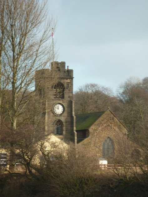 I spy a church.