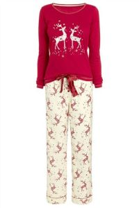 Reindeer Pj set -Next £25