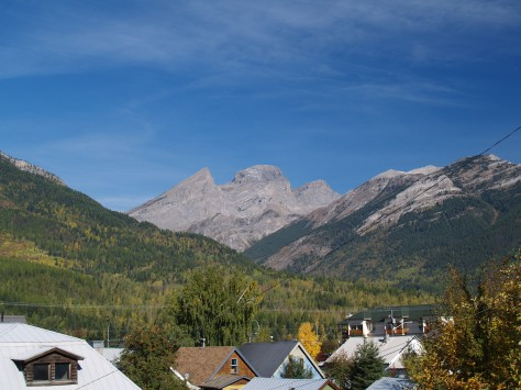 The Three Sisters  Mountain Peaks look over Fernie.