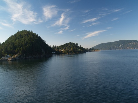 View from the Ferry over to Nanaimo. Gorgeous hey!