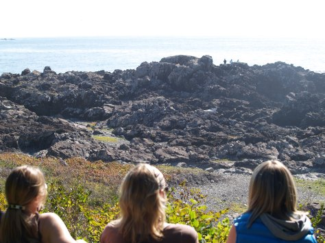 Admiring the scenery at Ucluelet.