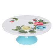 Painterly rose ceramic cake stand £22