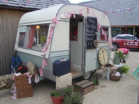 polly the vintage caravan