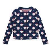 Teapot jacquard Cardi £65, perfect to wear for pouring the tea.