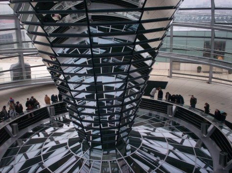 Inside the Reichstag, Berlin.