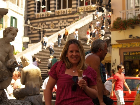 Icecream in Amalfi, Italy