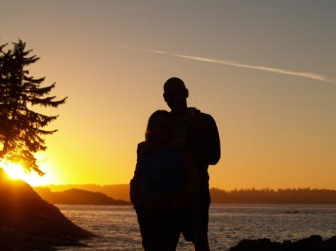 Enjoying the sunset, Vancouver Island, Canada