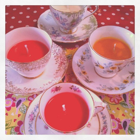 Teacup Candles galore.