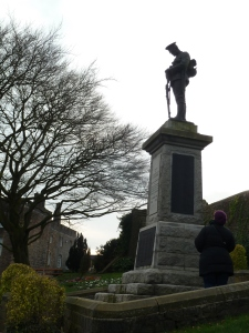 The War Memorial commands a view over to Pendle Hill.