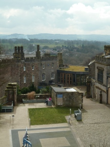 View of the museum and out buildings from the Castle Keep.