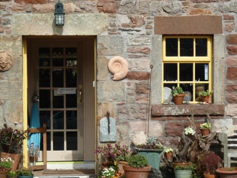 Pottery studio frontage.