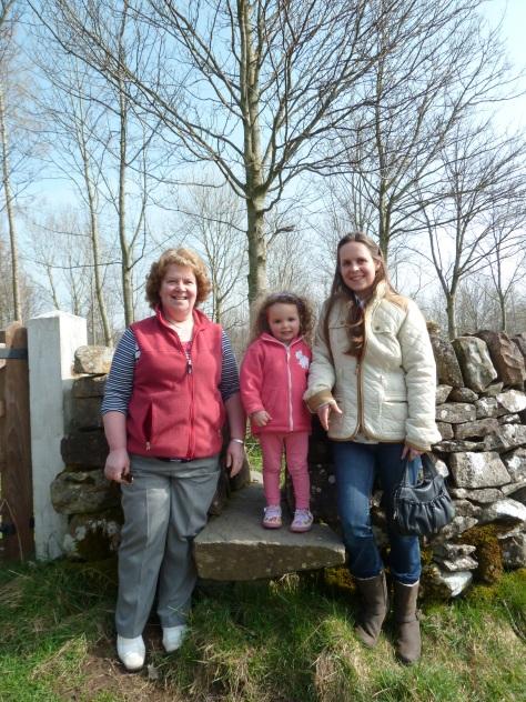 Mum, my niece Imogen and Sis.