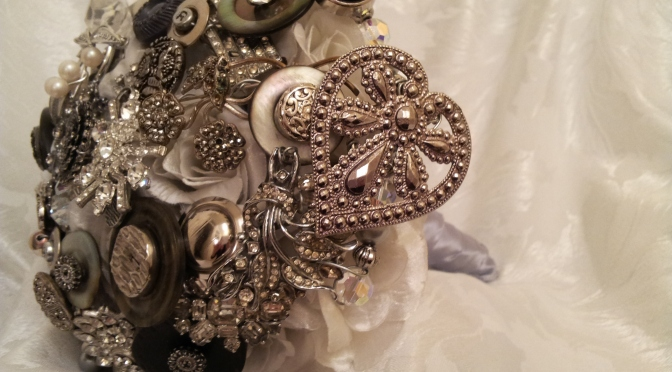 Brooch bouquets for Becky