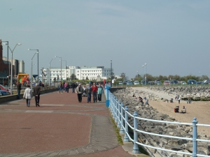 The promenade with the Midland Hotel in the distance.