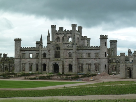 The majestic looking Lowther Castle.
