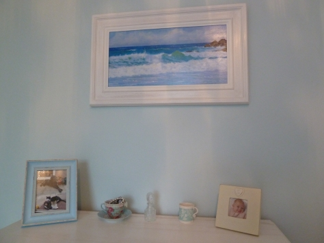 The beautiful waves painting is by a local artist  and was a present from some of my fab friends for my 40th. :)