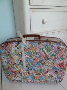 My vintage suitcase waiting to be swept away on a city break somewhere!