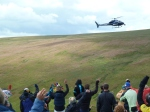 Tv crew Helicopter.